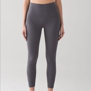 Lululemon Align Pant II 7/8 Grey Size 6 leggings